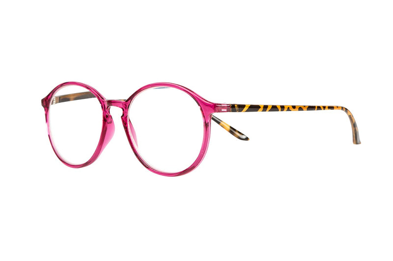 JOSEF transparent cerise-demi brown Reading Glasses