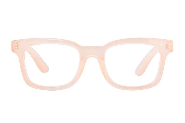 KIM transp. milky pink Reading Glasses