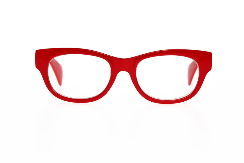 LARS solid red Reading Glasses