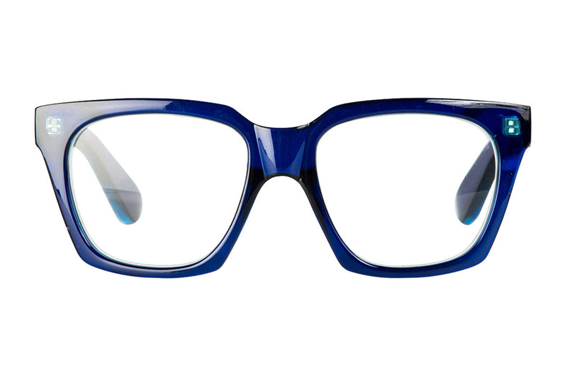 LISEN transparent dark blue Reading Glasses
