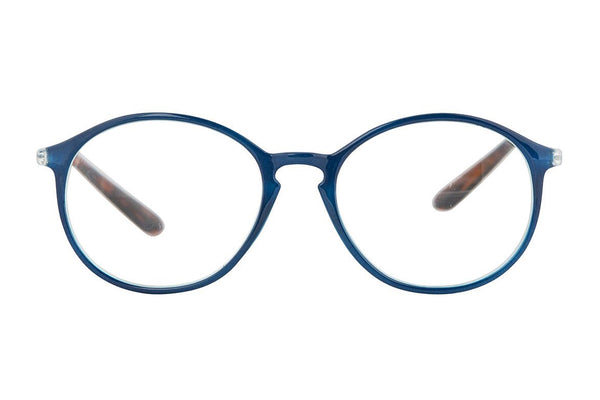 MOON Transp. Dark blue-demi brown Reading Glasses