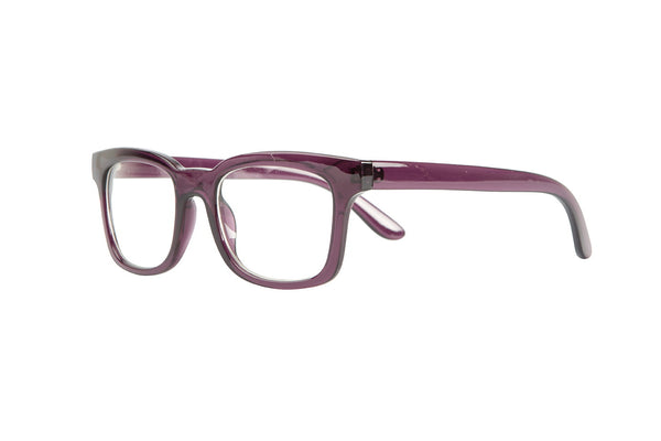 NICOLE transparent dark purple Reading Glasses