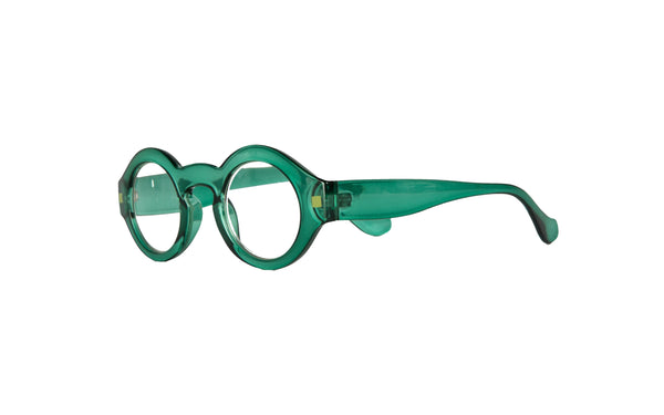 BENGT transparent dark turquoise Reading Glasses