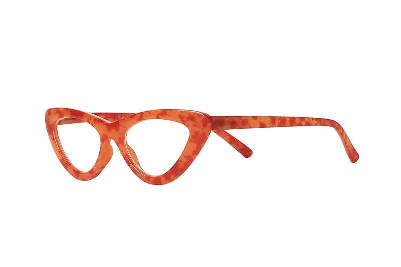 PIPER orange coral milky Reading Glasses