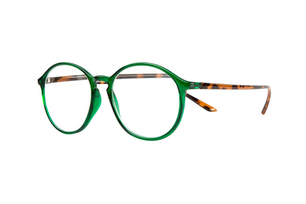 RUSSEL transparent bottle green Reading Glasses