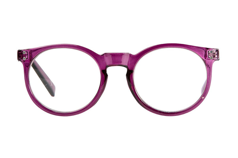STORM transparent purple Reading Glasses