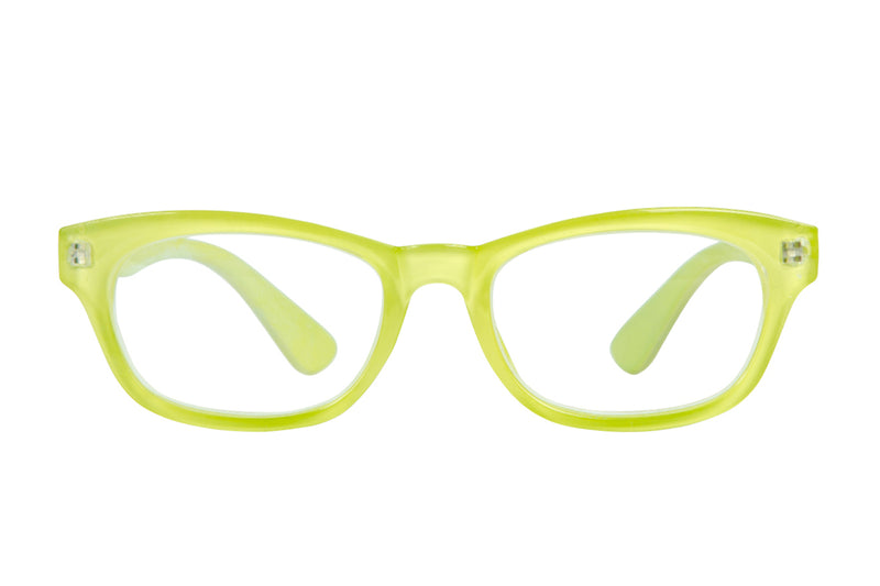 TUVA light lime Reading Glasses