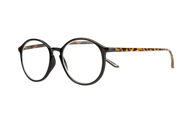 URBAN solid black-demi brown Reading Glasses