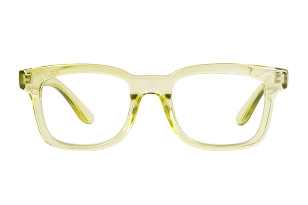 WILLIAM transparent lime Reading Glasses