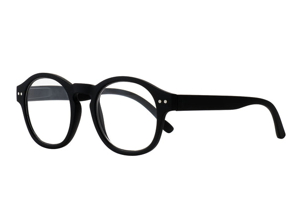 ZAC black rubber Reading Glasses