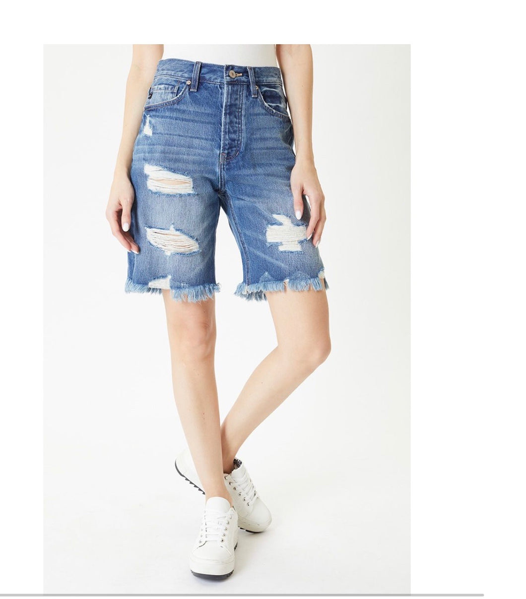 Kancan Kellie High Rise 90's Boyfriend Shorts