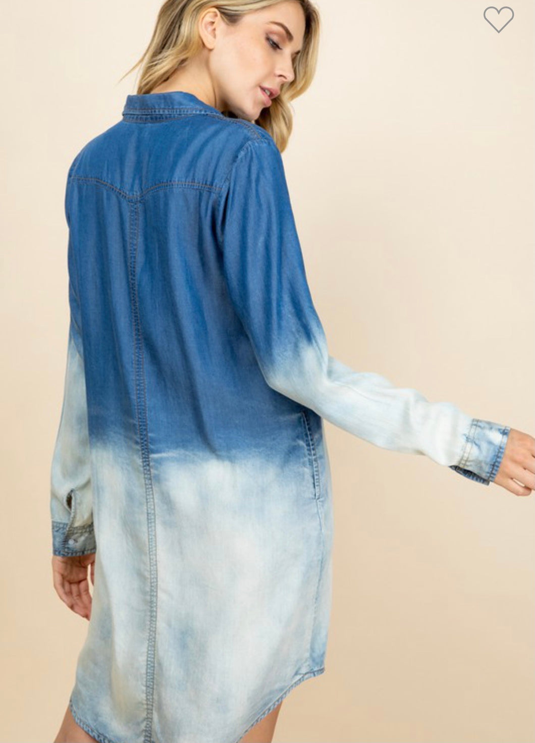 Denim Deep Dye Dress