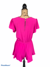 Load image into Gallery viewer, Pink Flounce Romper