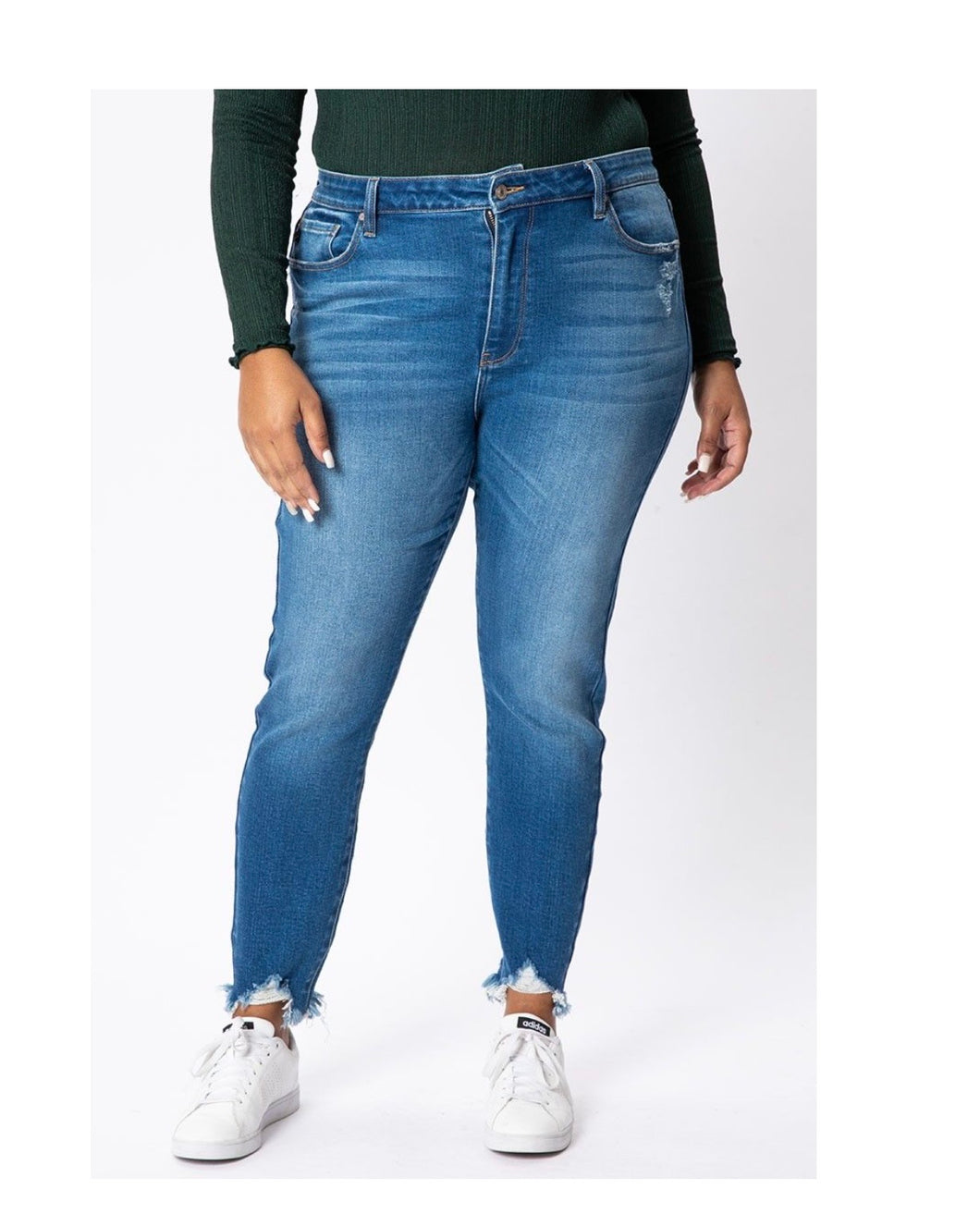 Kancan Leanna Plus High Rise Ankle Skinny
