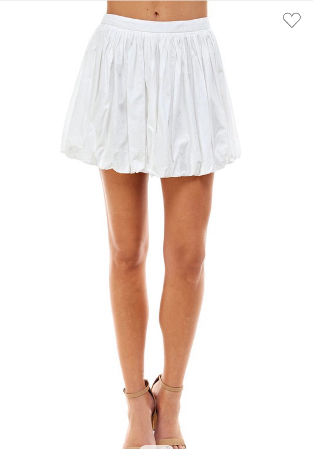 Poplin Bubble Skirt