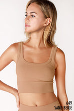 Load image into Gallery viewer, Lila Ribbed Crop - Sand Beige