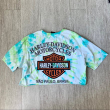 Load image into Gallery viewer, Harley Davidson Cropped Tie Dye T-shirt