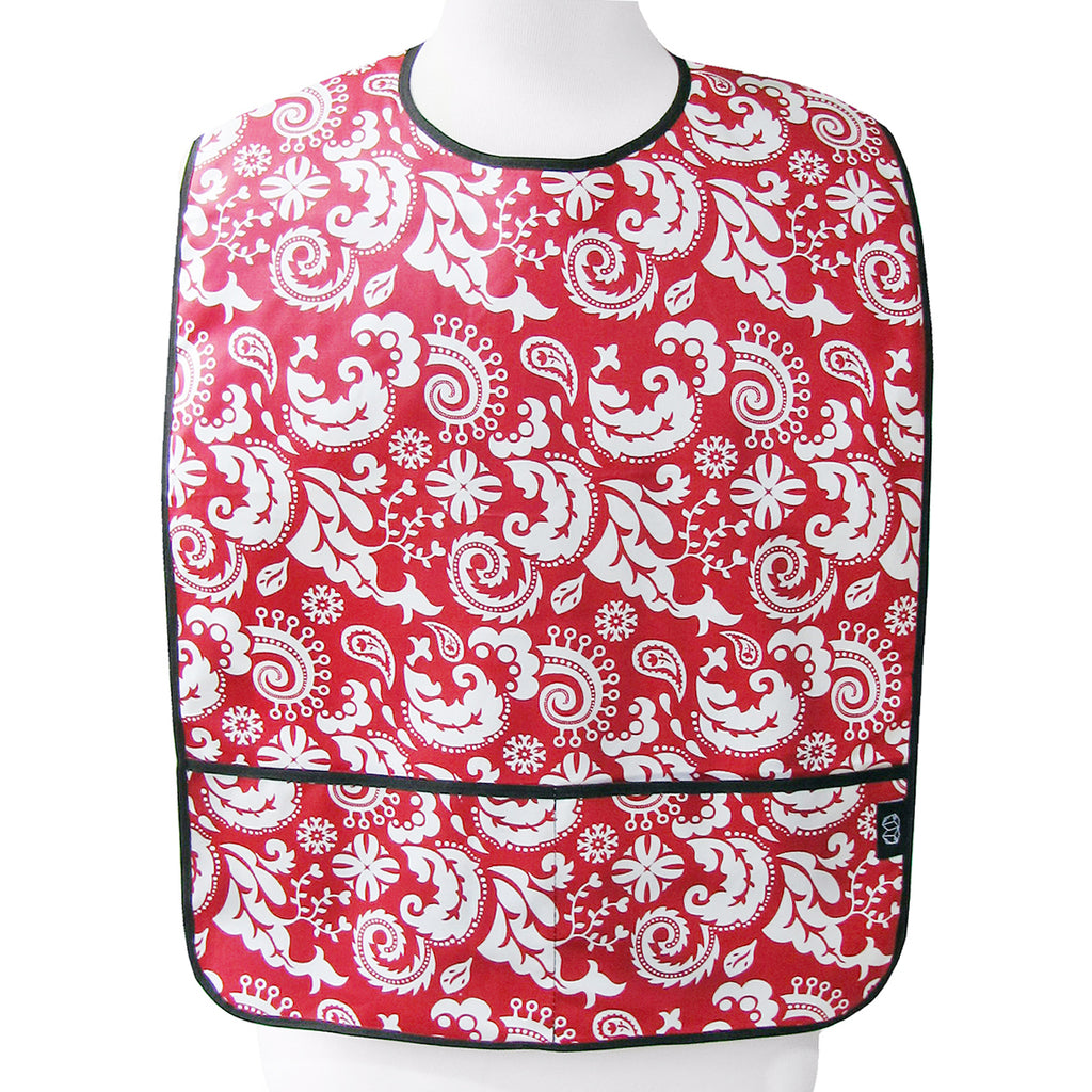 Mod Damask Red Nibble & Dribble