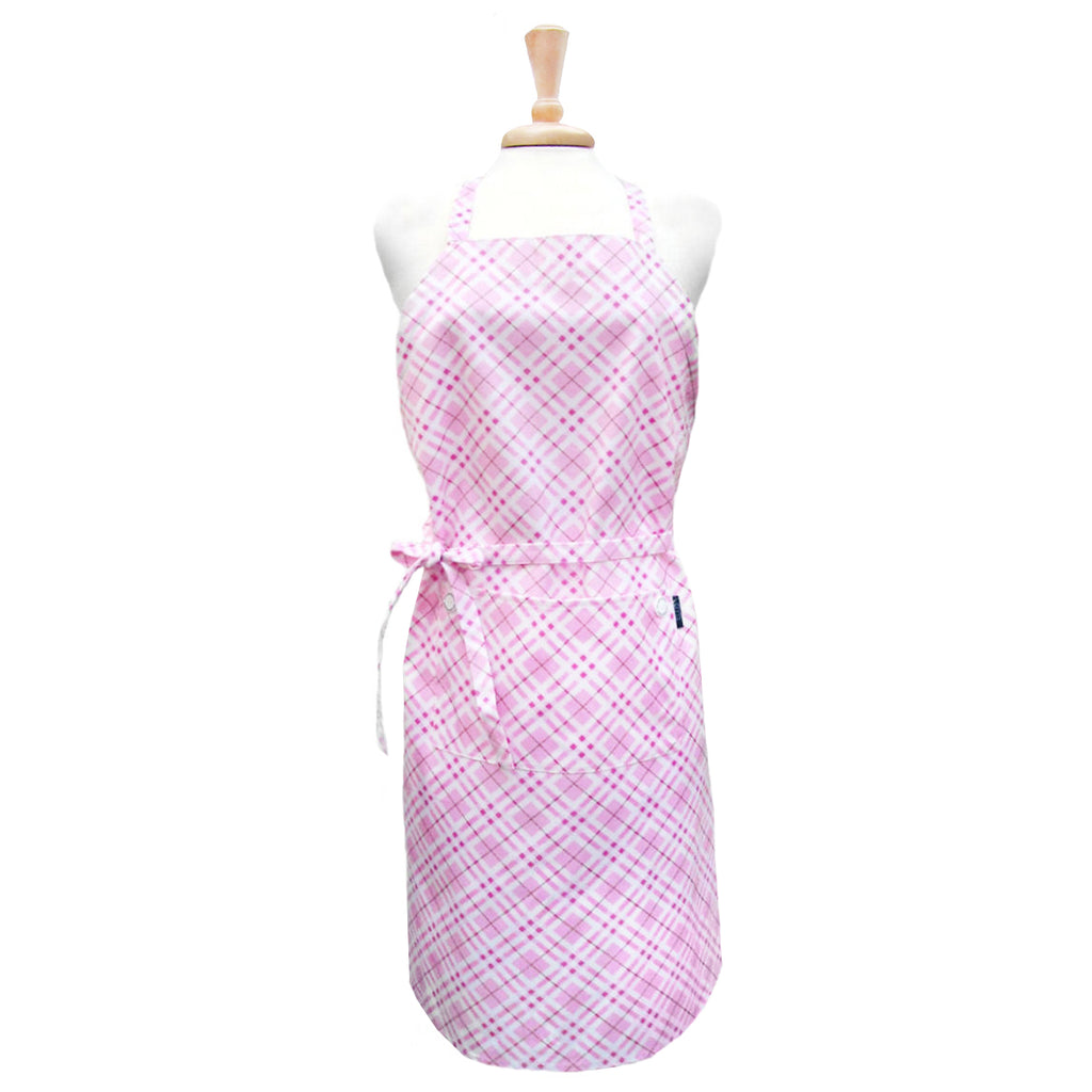 Pink Plaid Chef Apron