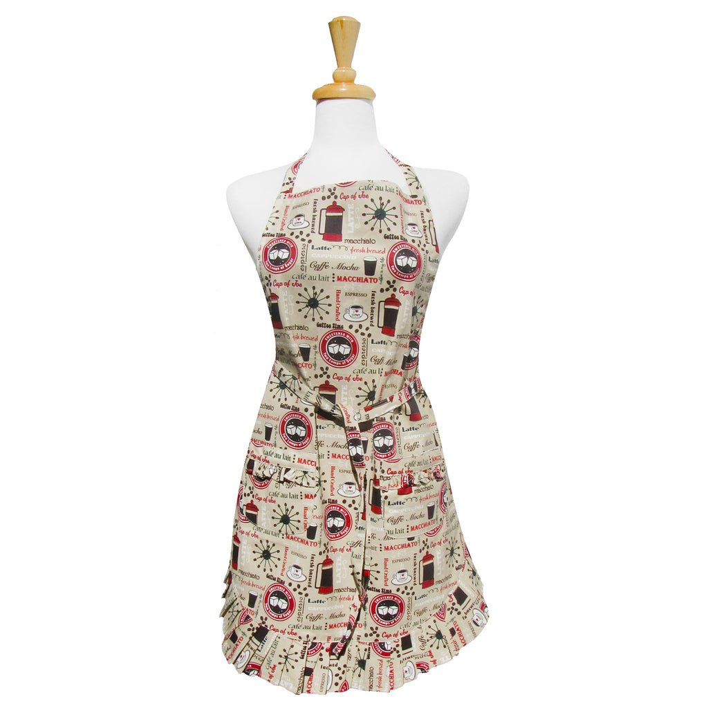 Coffee Time Ruffle Apron