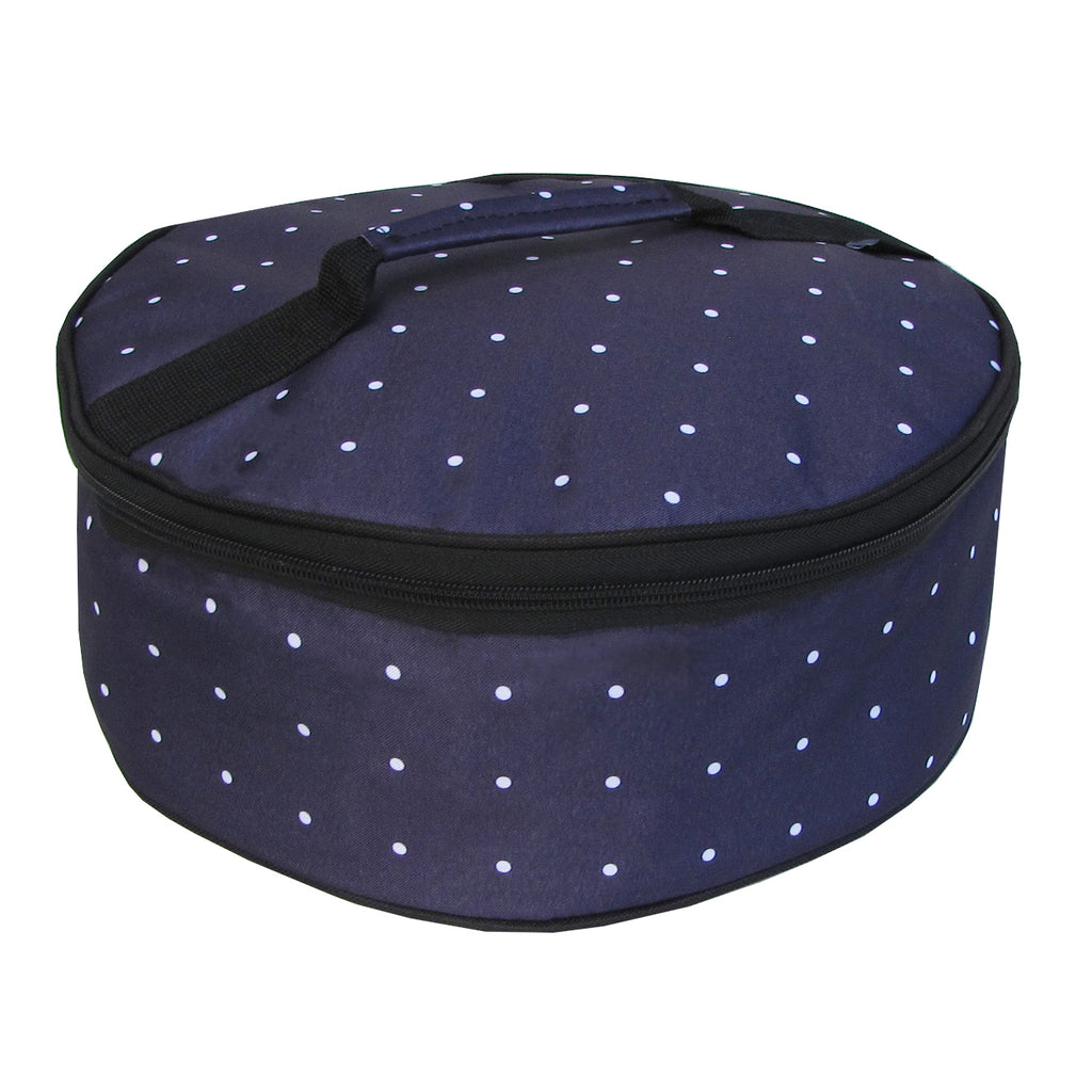 Navy Pin Dot Yummy Go Round