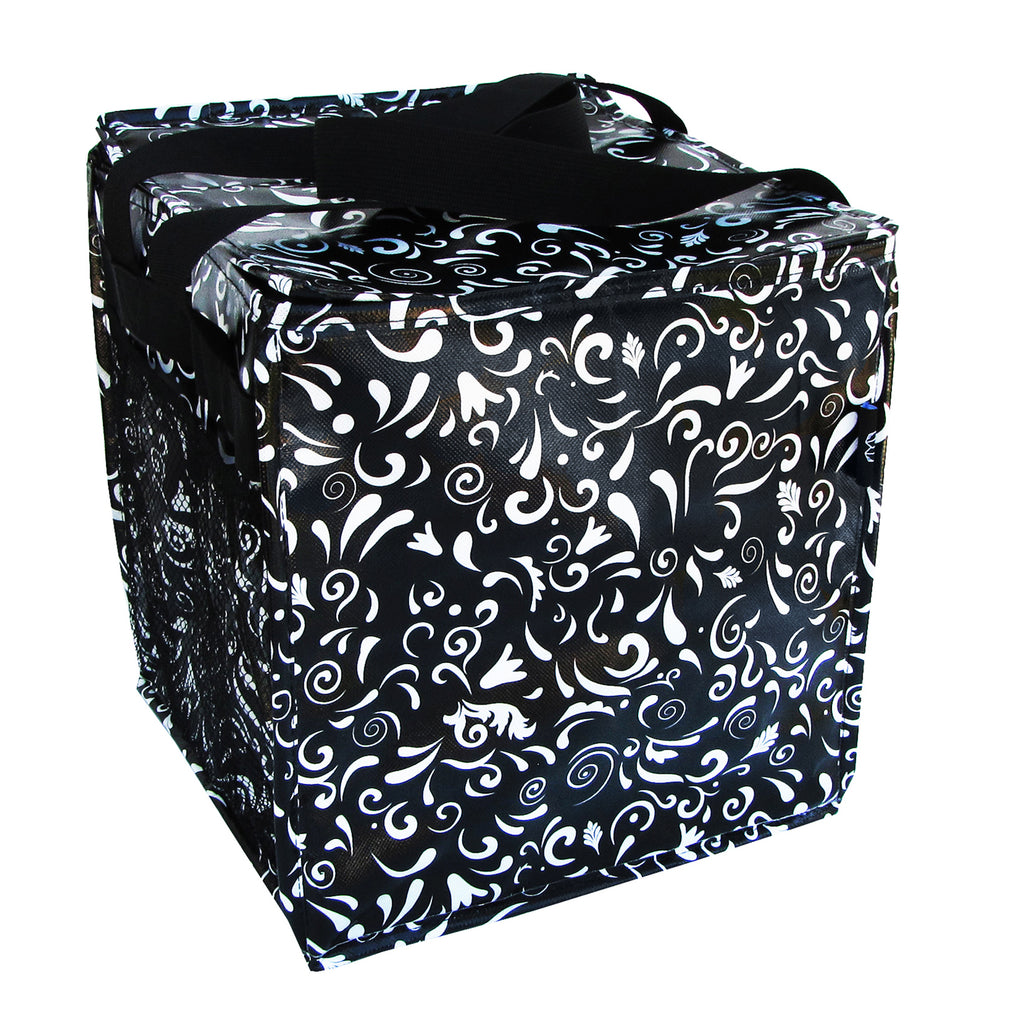 Swirly Gate Black Trunkey Tote