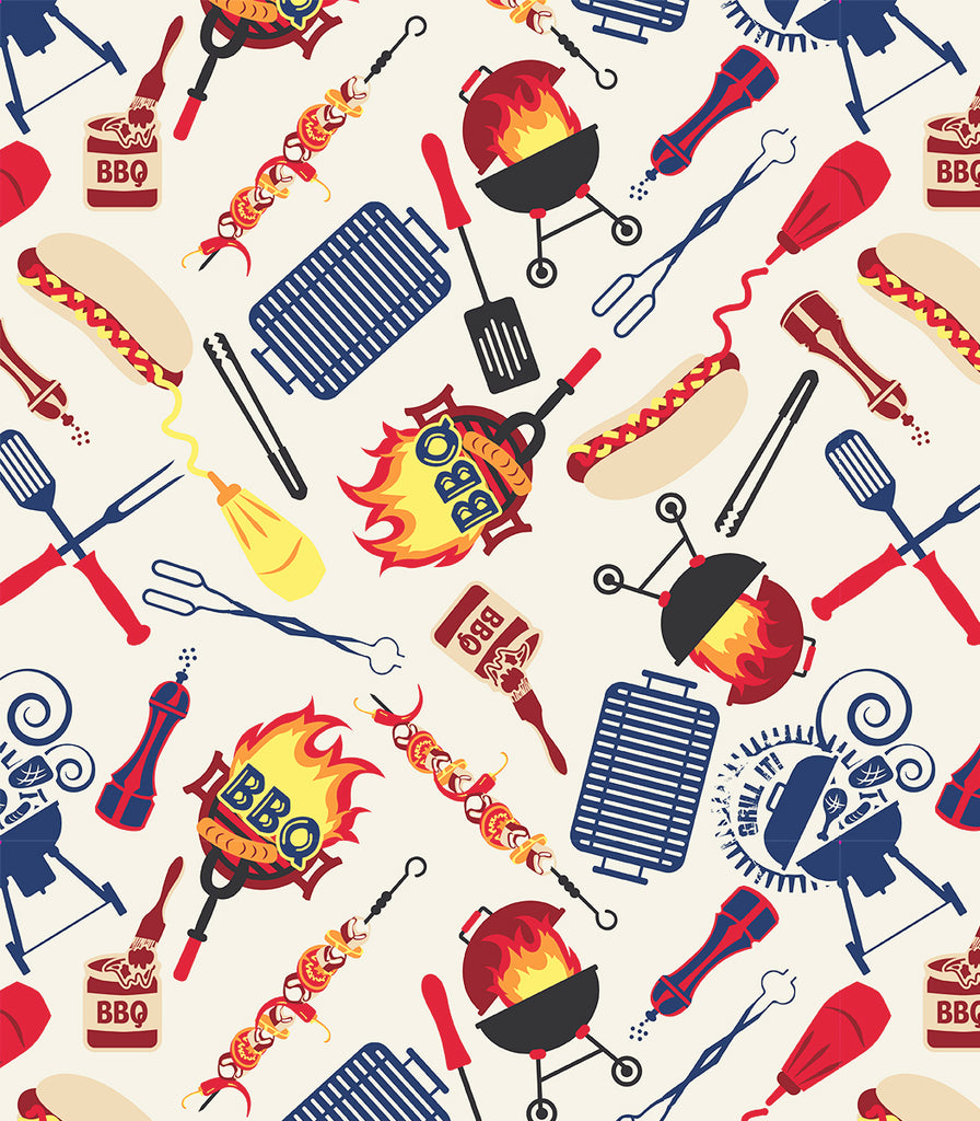 Grill Boss Set of 4 Placemats © Two Lumps of Sugar copyright print