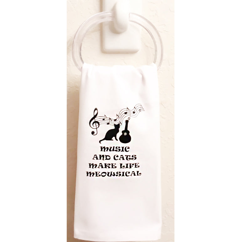 Music and Cats, Meowsical Towel set of 3