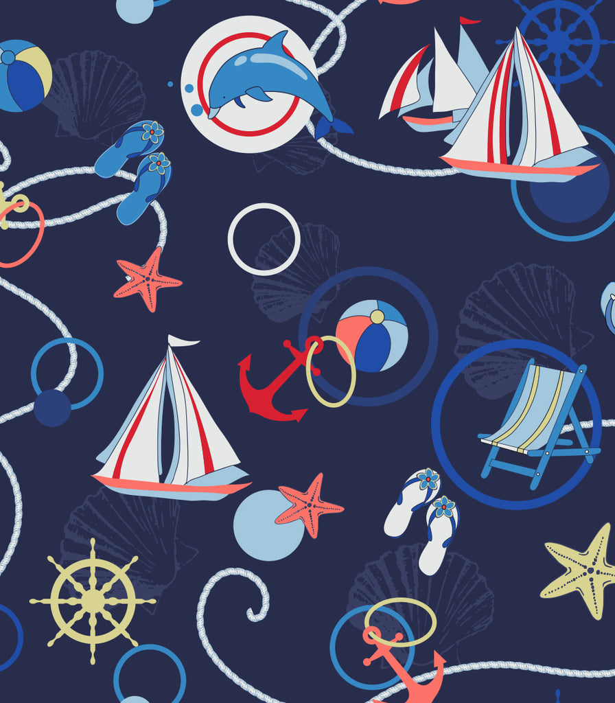 copyright @ Two Lumps of Sugar Nautical Circles Print