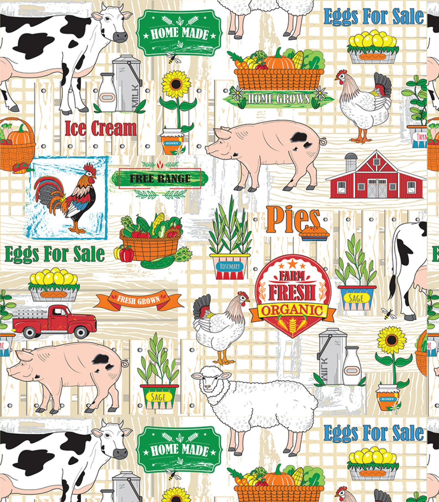 Papa's  Farm Set of 4 Placemats © Two Lumps of Sugar copyright print