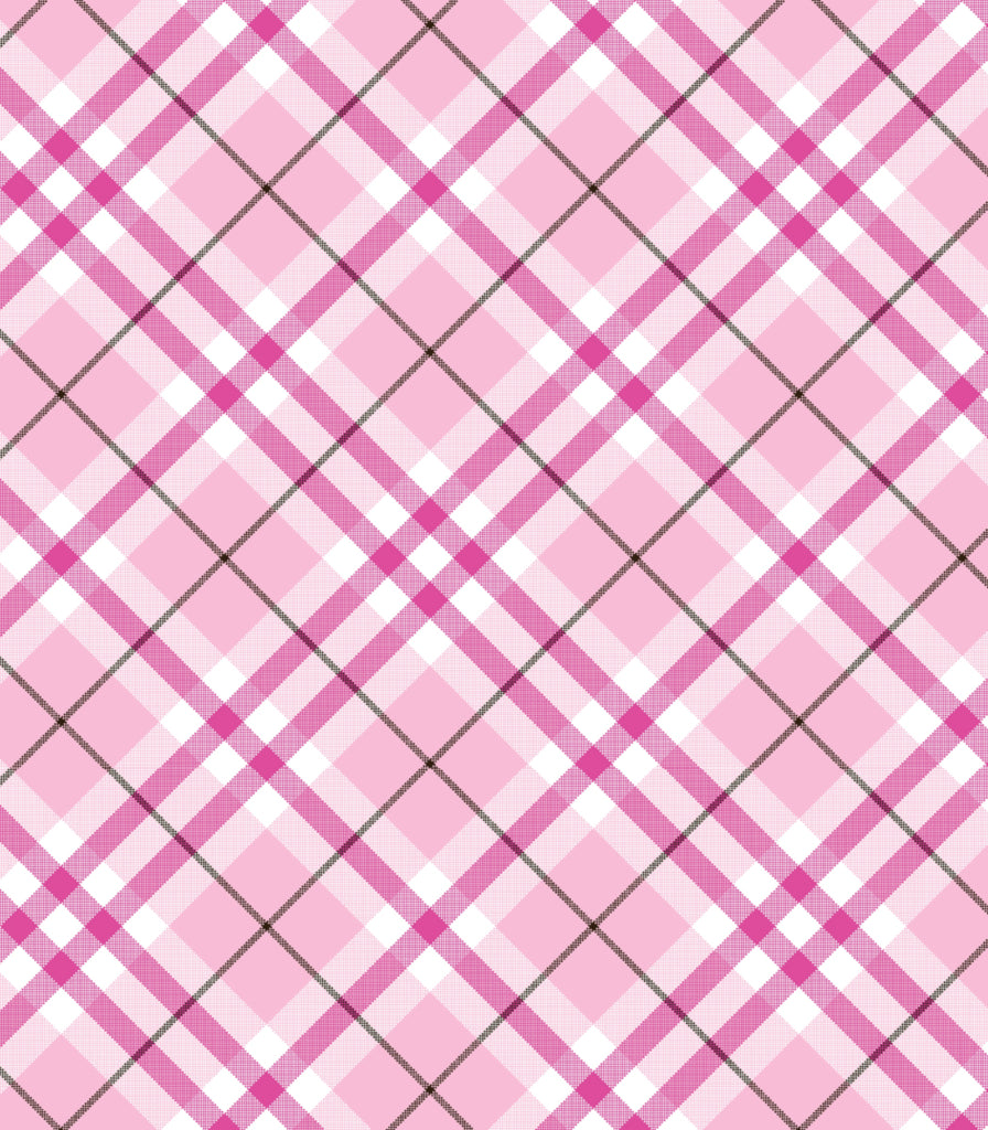 Pink Plaid Chef Apron © Two Lumps of Sugar copyright print