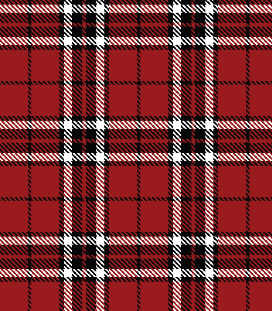 Red Plaid Nibble & Dribble