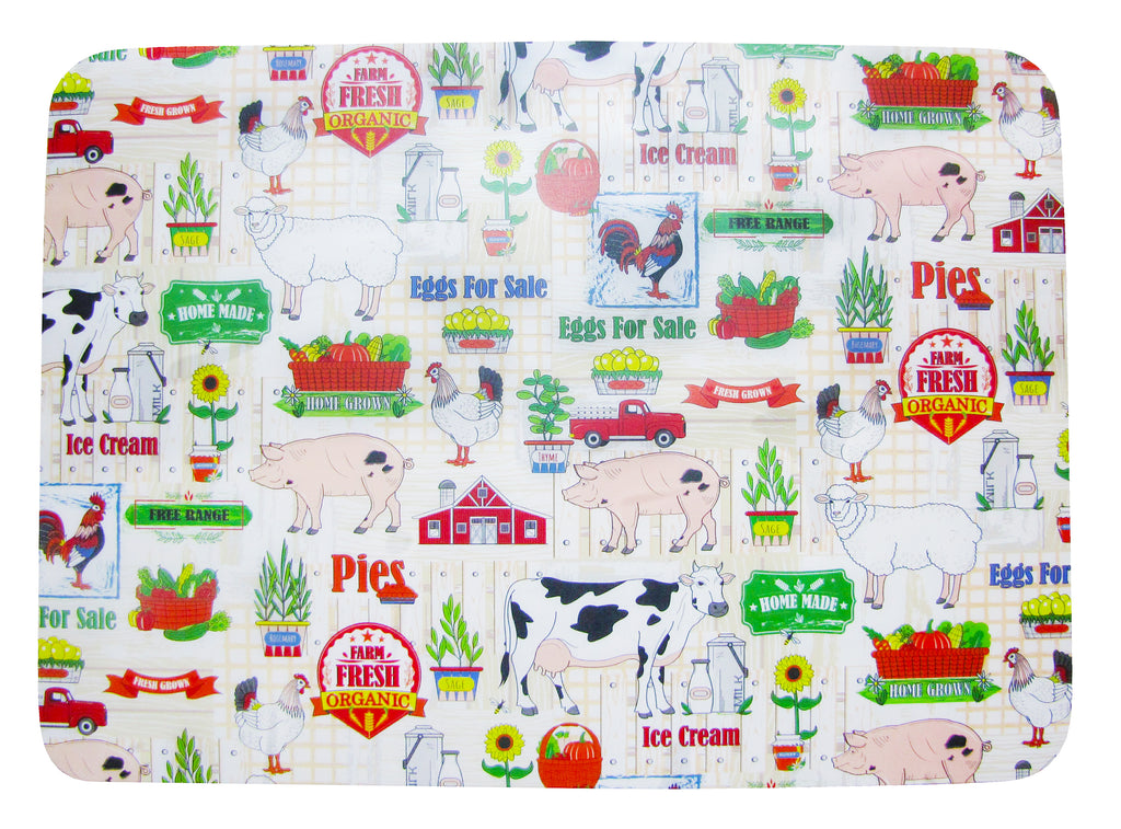 Papa's  Farm Set of 4 Placemats