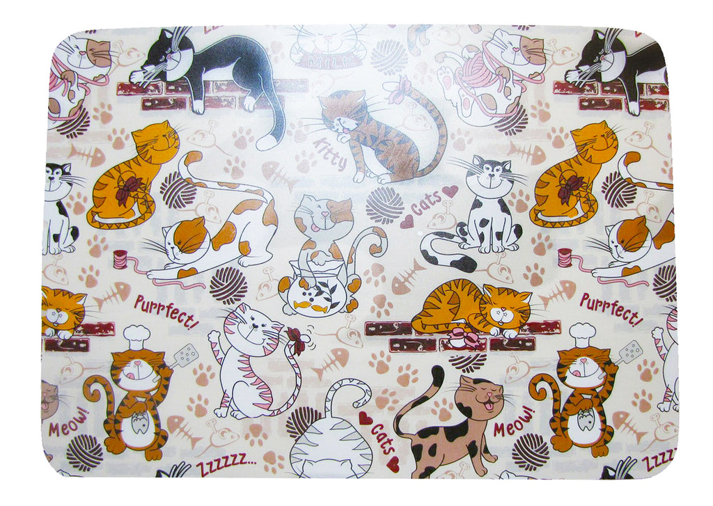 Pretty Purrfect Set of 4 Placemats