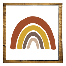 Load image into Gallery viewer, Desert Rainbow Wood Sign