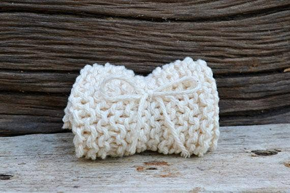 Hand-knit 100% Cotton Exfoliating Washcloth