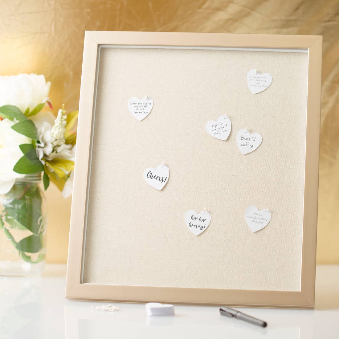 Modern Wedding Signature Pin Board Frame