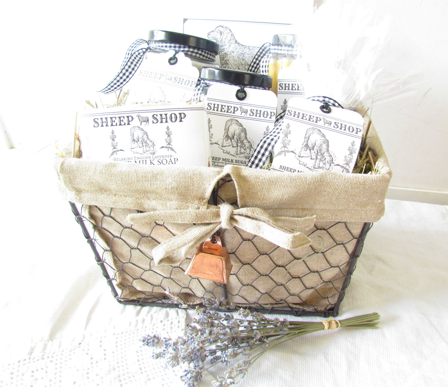 Sheep Milk Gift Basket - Relaxing English Lavender