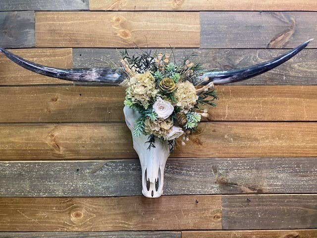Long Horn Natural Florals