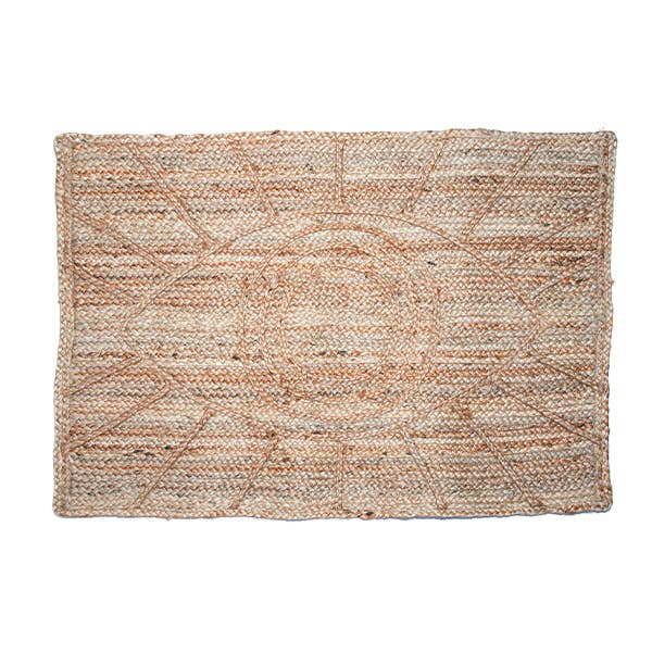 Bohemian Eye Jute Doormat - 2x3 feet