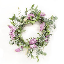 Load image into Gallery viewer, Purple Wildflowers Wreath, 24""