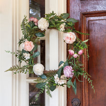 Load image into Gallery viewer, Spring Peony Wreath, 22""