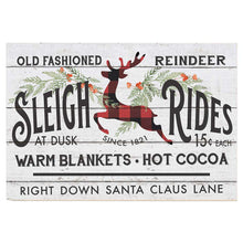 Load image into Gallery viewer, 34x23 Old Fashioned Sleigh Ride Sign