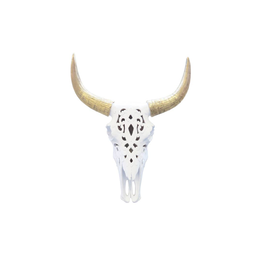 Decorative Southwestern Carved Bison Skull