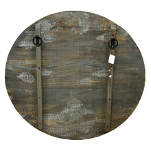 Load image into Gallery viewer, Hand-Carved Wood VERACRUZ Round Raised Art Wall Panel