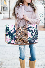 Load image into Gallery viewer, Floral Cheetah Weekender Bag