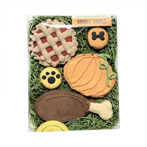 Gobble Gobble Box Peanut Butter Dog Treats