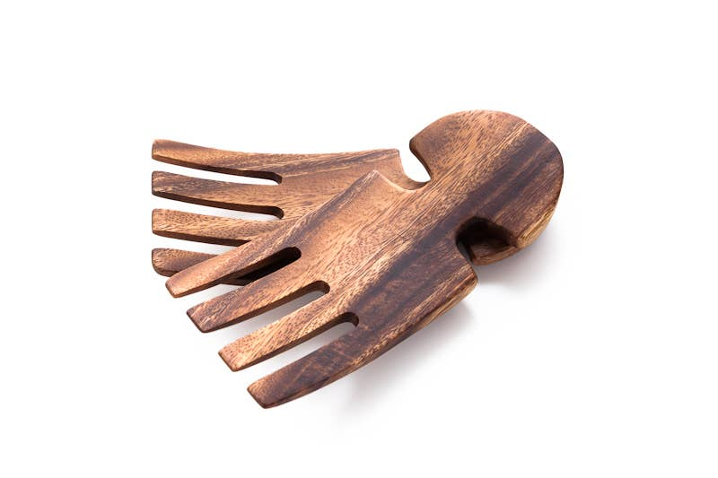 Acacia Wood Salad Hands