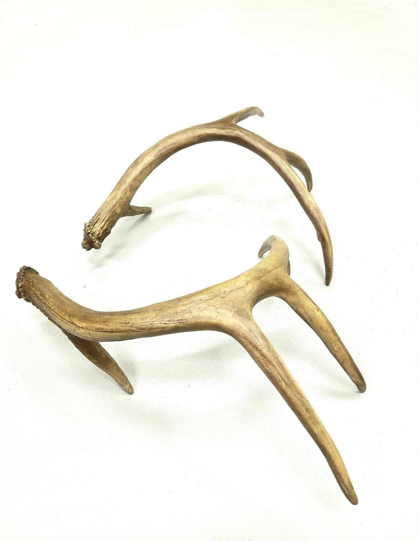 Pair Of Replica Large - Table Top Fake Antler Shed
