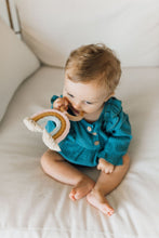 Load image into Gallery viewer, Rainbow Macrame Teether- Light Pink + Light Blue
